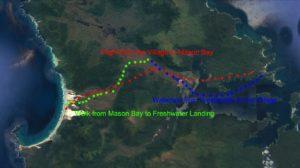 Sails Ashore, Stewart Island Mason Bay walk