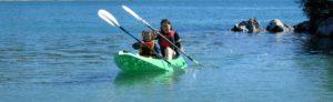 Sails Ashore kayakers, Stewart Island
