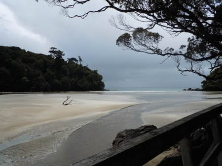 Little River, Stewart island, Sails Ashore.