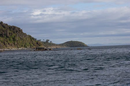 The Saddle, Stewart Island, sails Ashore