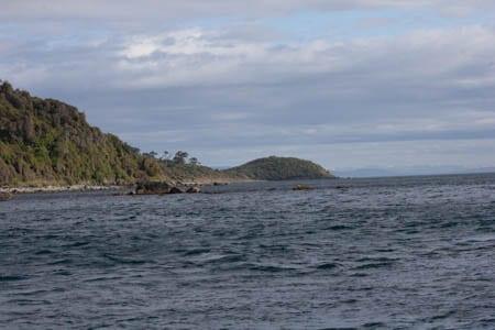 The Saddle, Stewart Island, sails Ashore