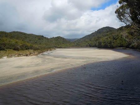 maori beach, sails ashore, stewart island
