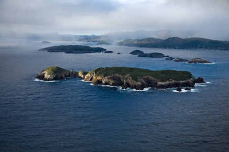 Temaitemoika & Pohowaitai Island, Putahinu beyond, Sails Ashore, Stewart Island
