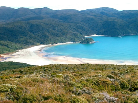 Doughboy Bay, Sails Tours Stewart Island