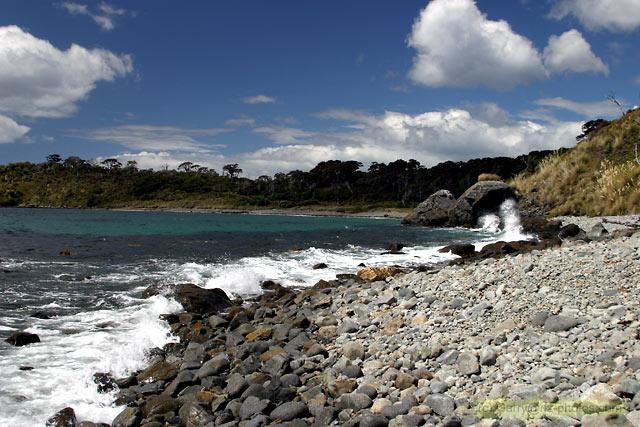 Lucky Beach, Stewart Island, Sails Ashore