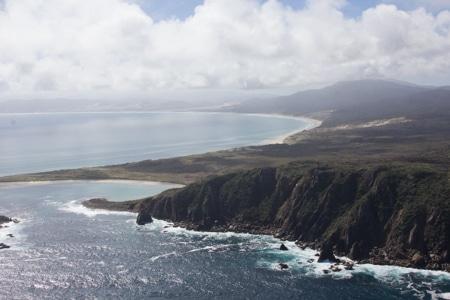 mason bay, sails ashore, stewart island