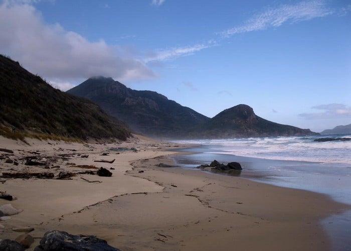 west raggedy beach, sails ashore, stewart Island