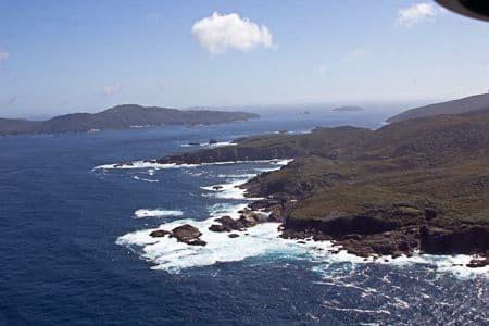 Southwest Cape, stewart Island, sails ashore